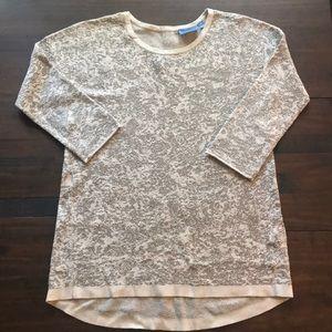 Simply Vera Cream Metallic Sweater